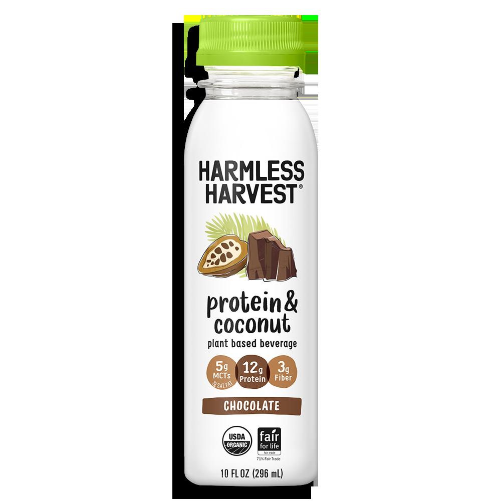 Harmless Harvest Protein & Coconut 10oz bottle, Chocolate flavor