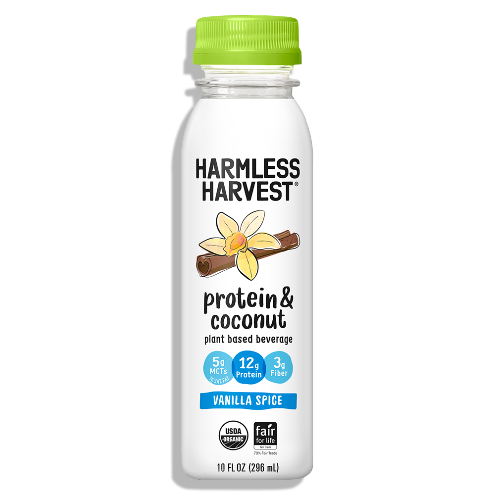 Harmless Harvest Protein & Coconut 10oz bottle, Vanilla Spice flavor
