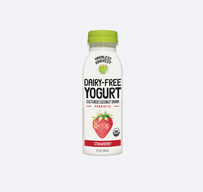 Harmless Harvest Dairy-Free Yogurt Drink 8oz bottle, Strawberry flavor