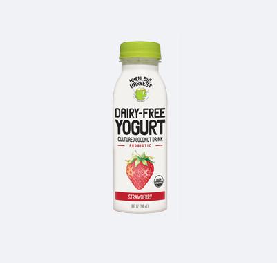Harmless Harvest Dairy-Free Yogurt Drink 8oz bottle, Strawberry flavor