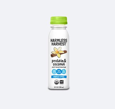 Harmless Harvest Protein & Coconut 10oz bottle, Vanilla Spice flavor