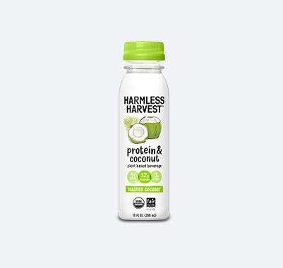 Harmless Harvest Protein & Coconut 10oz bottle, Toasted Coconut flavor