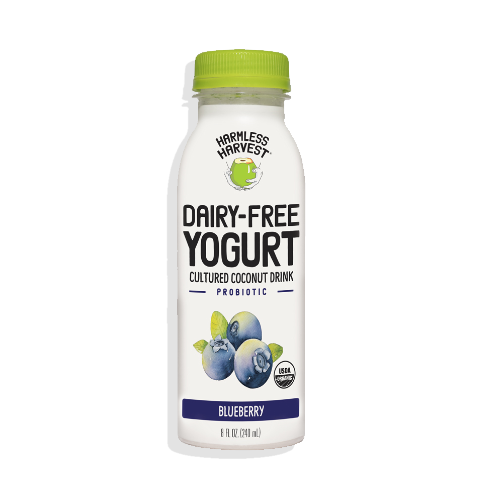 Harmless Harvest Dairy-Free Yogurt Drink 8oz bottle, Blueberry flavor